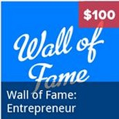 Wall of Fame: Entrepreneur