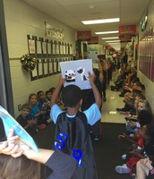 The first graders were cheering loudly!