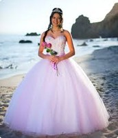 A girl in her puffy Quinceañera dress