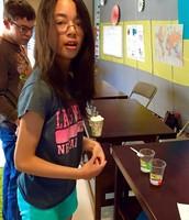 Allison making observations during Biology Lab!