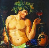 Dionysus with a glass of wine