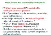 Sustainable Development and Open Access by Jean-Claude Guédon