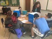 Pre-assessments occuring in Ms. Bell's classroom.