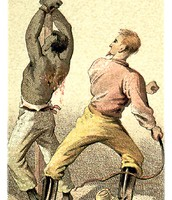 Slaves being beaten