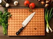 1. Arreglo los cuchillos en la table de cortar