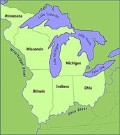 Which states are included in the northwest territory?