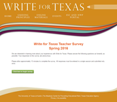 Survey to TEA and Write for Texas Grant