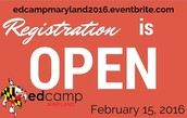2016 edCamp Maryland Registration is NOW open!