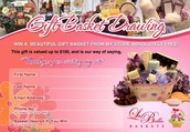 Enter our Monthly Gift Basket Drawing