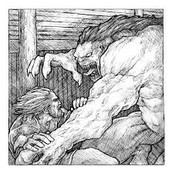 Beowulf Fighting Gendel