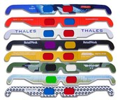 a cool variety of 3d glasses