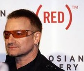 Bono attends RED benefit