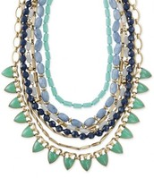 SUTTON NECKLACE - GREEN STONE N434GR - $110.00