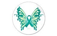 Ovarian Cancer Ribbon Butterfly