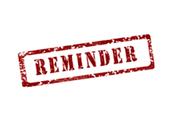 ACP Reminders
