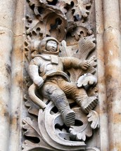 Astronaut Mystery on the Cathedral
