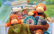 A New Little Monkey Baby Gift Basket.