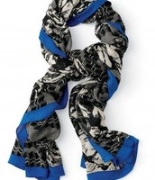 SOLD! AUCTION ITEM - Union Square Scarf - Midnight Bloom