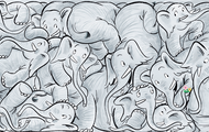 there is way too many elephants