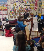 We had the treat of listening to Hannah play the harp!