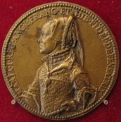 Bronze medal of Mary I of England