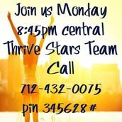 Thrive Stars Weekly Team Call