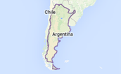 This is where Argentina is located on the map.