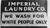 A Laundry Mat only for Whites