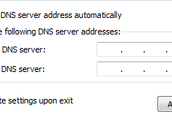 Click Use the following DNS setting