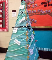 The 5th and 6th grade girls wraped up this beautiful tree!