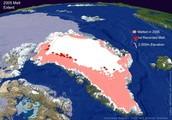 Locations where effects of global warming are evident