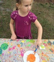 Olivia with her serious art face!