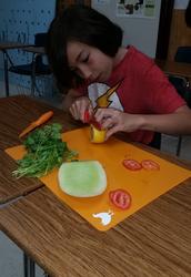 Students Learn Knife Skills