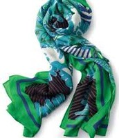 SOLD Union Square Scarf - Spring Green Mixed Print