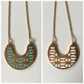 Breezeblock Enamel Pendant Necklace