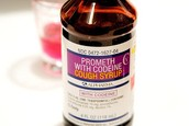 Cough syrup with codeine.