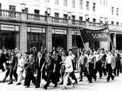 Die Arbeiter streikten