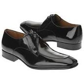 Shiny dress shoes