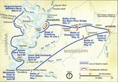 Battle map of Vicksburg
