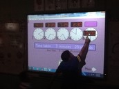 Playing Stop the Clock on the SMART board