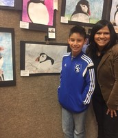BBES students win 1st place drawing,