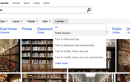 Bing pull-down image search