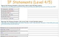 If Statements Level 4/5
