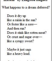 Langston Hughes poem