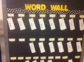 Interactive Word Wall at Roberts