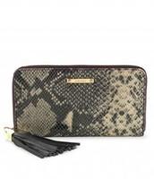 Mercer Zip Wallet Black Snake