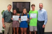 State Qualifiers in Tennis Recognized at the June Board Meeting