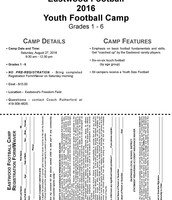 Grades 1-6 Youth Football Camp Registration