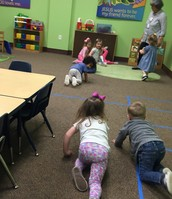 "We ""walk"" around the class like different animals after reading The Foot Book."