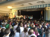 Fourth Grade Wordmasters Presenting at School Meeting